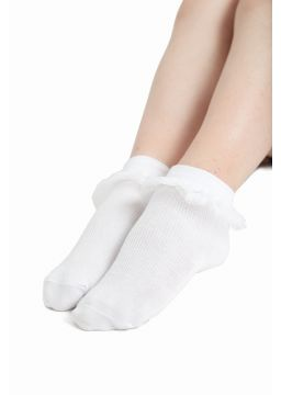 Socks with tulle at the ankle