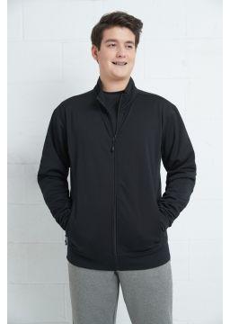 Men fleece jacket with zipper