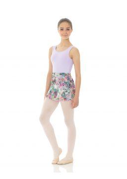 Printed wraparound skirt