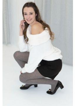 Heather cotton tights