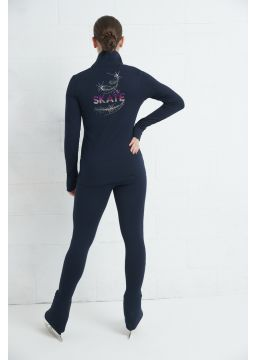 Leggings with wide comfort waistband