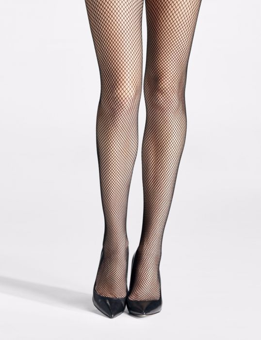 487e4bd8489ac Fishnet tights with Rhinestones on back seam style 5758