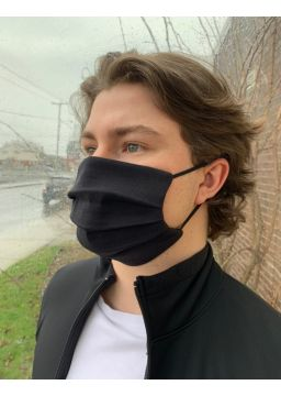 URBANISTA Plain pleated face mask