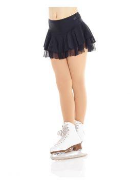 Shinny nylon and mesh skirt