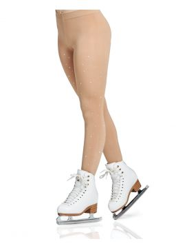 Rhinestones footed tights