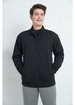 Men fleece jacket with zipper