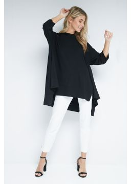 Asymetrical viscose shirt