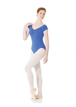 Matrix cap sleeve leotard