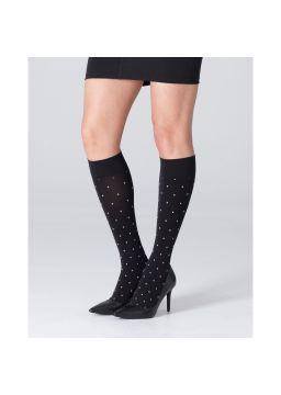 Microfiber knee high with white dot