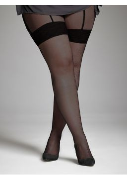 Garter belt effect tights