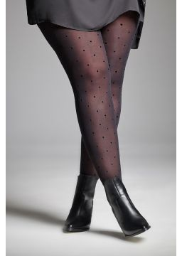 Polka dots motif tights