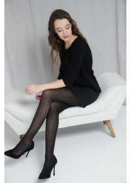 Chequered tights