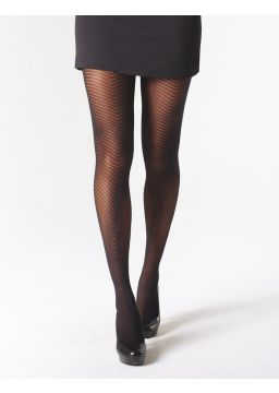 Herringbone motif tights