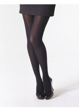 Rib motif tights