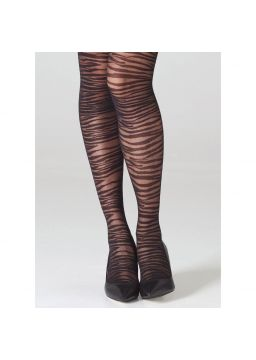 Zebra motif tights