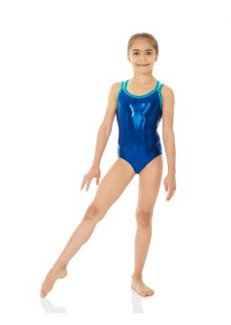 Metallic printed leotard