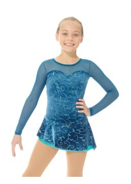 Glitter velvet dress