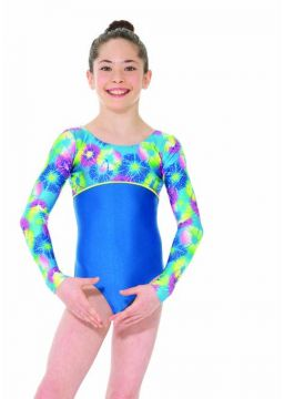 Printed long sleeve leotard