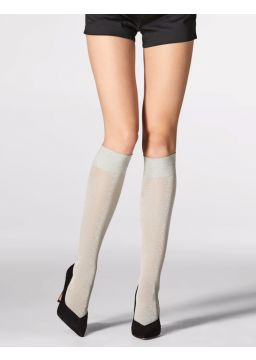 Knee high with Lurex® - 30 denier