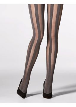 Wide strpied tights