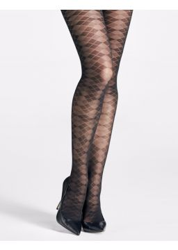 Argyle motif tights