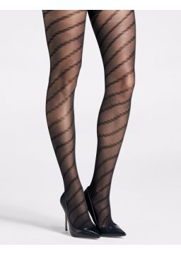 Dotted spiral motif tights